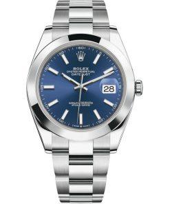 Replica de reloj Rolex Datejust 19 (41 mm) 126300 correa Oyster (Esfera azul) Automático