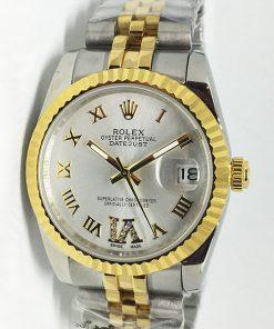 Replica de reloj Rolex Datejust 41 (36mm) (Jubilee band) Bi-color (Esfera gris)
