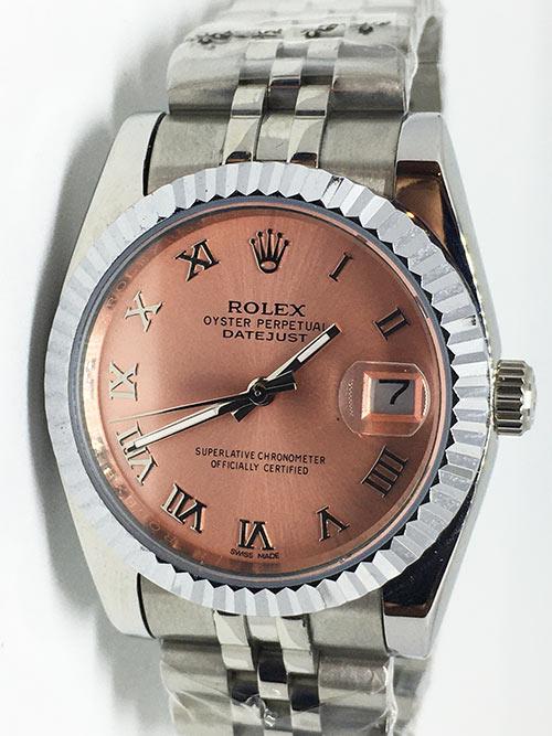 Replica de reloj Rolex Datejust 42 (36mm) (Correa Jubilee) Esfera rosa