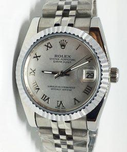 Replica de reloj Rolex Datejust 43 (36mm) (Correa Jubilee) Esfera gris