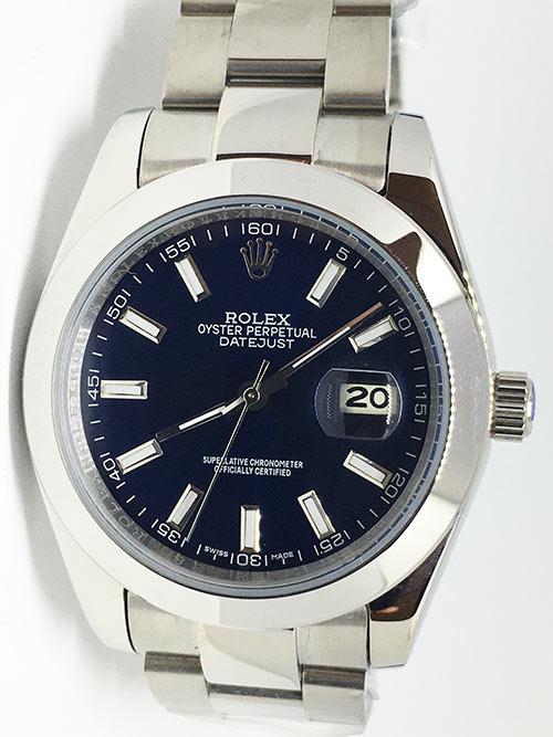 Replica de reloj Rolex Datejust 19 (40mm) 126300 Oyster (Esfera azul)