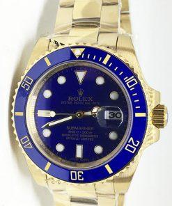 Replica de reloj Rolex Submariner 07 Date (41mm) 126618LB (oro) correa Oyster (Con fecha) Automatico