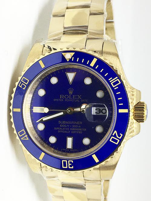 """Replica de reloj Rolex Submariner 07 Date (41mm) 126618LB (oro) correa Oyster (Con fecha) Automatico """"Azul"""""""