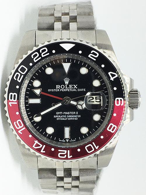 Replica de reloj Rolex Gmt-Master ll 11 (40mm) 16710 Coca Cola Negro/Rojo Jubilee Automático