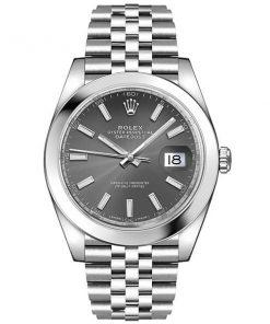Replica de reloj Rolex Datejust ll 21 (41 mm) 126300 correa Jubilee (Esfera gris) acero 316L automático