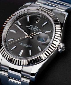 Replica de reloj Rolex Datejust ll 20 (41 mm) 126334 correa Oyster (Esfera gris) automático