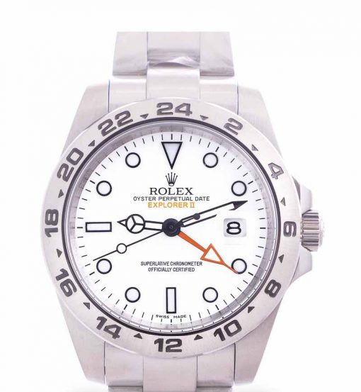 Replica horloge Rolex Explorer ll 04 (42mm) 216570 Esfera blanca (Acero) automático