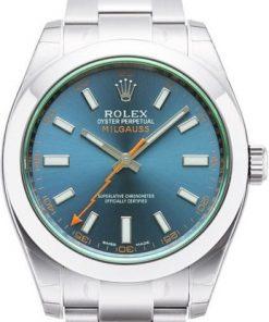 Replica horloge Rolex Milgauss 03 116400GV (40mm) Esfera Azul Automático