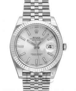 Replica de reloj Rolex Datejust ll 27/1 (41mm) 126334 correa Jubilee (Esfera gris) automático Plata
