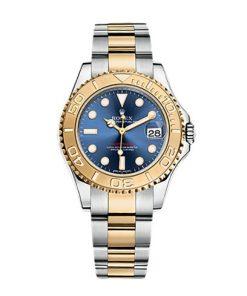 Replica de reloj Rolex Yacht master 11 (40mm) 168623 (Esfera azul) Automático (correa Oyster) Acero y oro