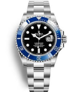 Replica de reloj Rolex Submariner 10 Date (41mm) 126619LB Esfera negra / bisel Azul (Con fecha) Automatico