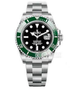 Replica de reloj Rolex Submariner 09 (41mm) 126610LV Esfera negra / bisel verde (Con fecha) Automatico