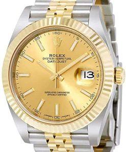 Replica de reloj Rolex Datejust ll 30/1 (41mm) 126333 correa jubilee Acero y Oro (Esfera negra) automático