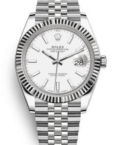 Replica de reloj Rolex Datejust ll 30/5 (41mm) 126333 correa jubilee Bicolor (Esfera blanca) automático